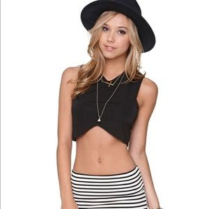 Black Crop Top Tank